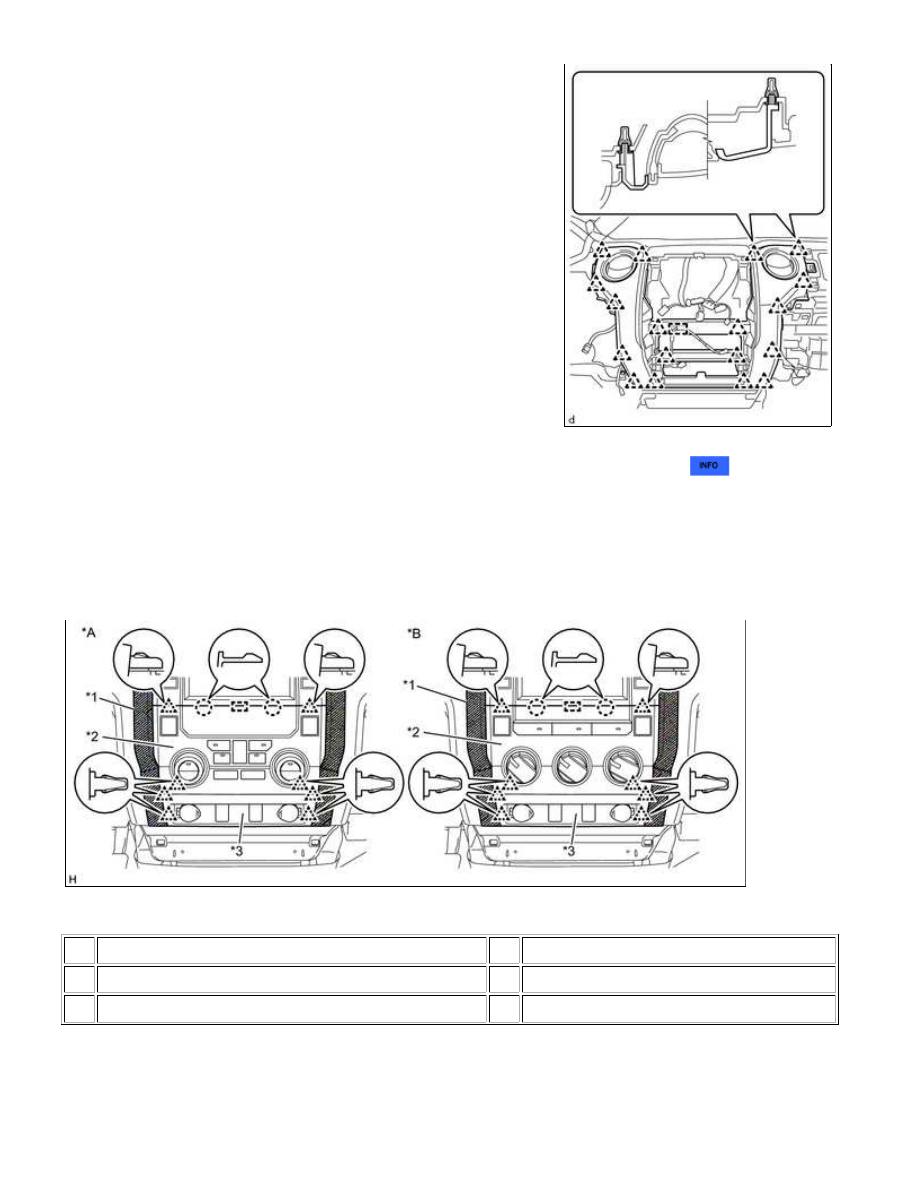 Toyota Tundra 2015 Year Manual Part 2380 Wire Harness Clamps B Attach The 18 Clips And Clamp To Install Center