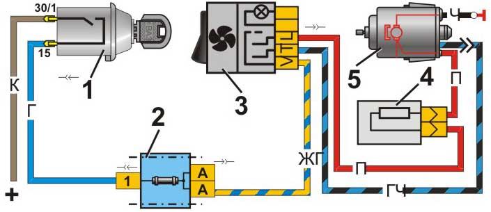 Схема кнопка печки 21213